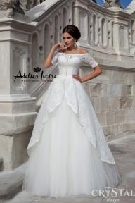 Булчинска рокля Jessika от Ателие Ивоар! www.atelierivoire.bg - Crystal Design for Atelier Ivoire