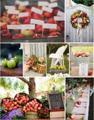 С ЕЛЕМЕНТ НА ЯБЪЛКИ - ТЕМА НА СВАТБАТА - Както знаем, още от древни времена ябълката е символ на жизнена сила и плодородие. Ние я виждаме и като ефектен елемент в декора на вашата сватба! - ИДЕИ ЗА ТЕМА НА СВАТБАТА